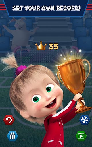 Masha and the Bear: Football Games for kids Apkfinish screenshots 21