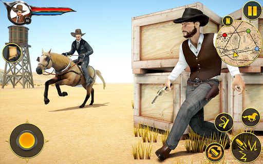 Cowboy Horse Riding Simulation apktram screenshots 12