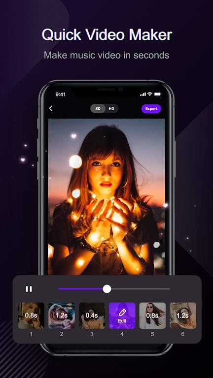 Vieka - Video Editor with Music & Editing Apps  poster 1