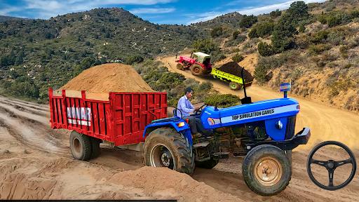 Real Tractor Trolley Cargo Farming Simulation Game screenshots 1