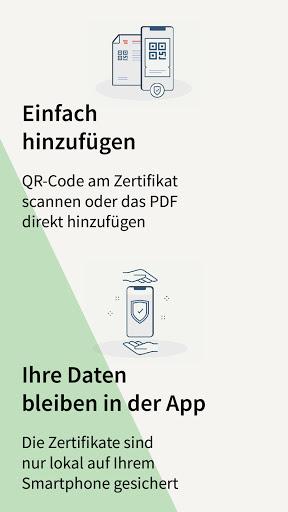 Grüner Pass screen 1