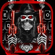 Skull Fire Gun Wallpapers Keyboard Background