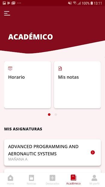 Captura de Pantalla 8 de URJC App Univ. Rey Juan Carlos para android