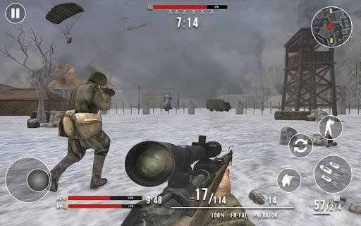 World War 2 Winter Heroes - Free Shooting Games 1.2.2 screenshots 9