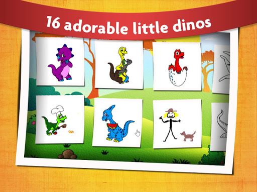 Kids Dinosaur Coloring Pages - Free Dino Game filehippodl screenshot 2