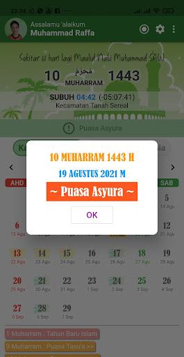 Kalender Hijriah -Puasa Sunnah android2mod screenshots 4