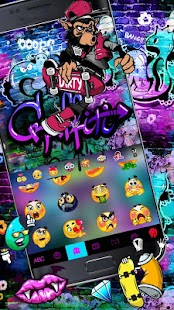 Skate Graffiti Keyboard Theme Screenshot