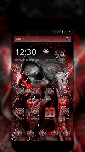 blood death skull theme screenshot 2