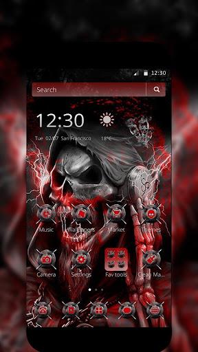 blood death skull theme screenshot 2