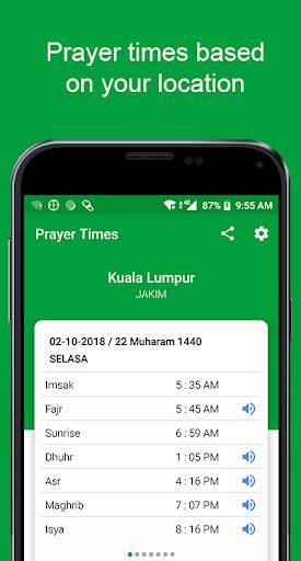 Waktu Solat -Kiblat, Azan, Doa, Al Mathurat Sugro apktram screenshots 1