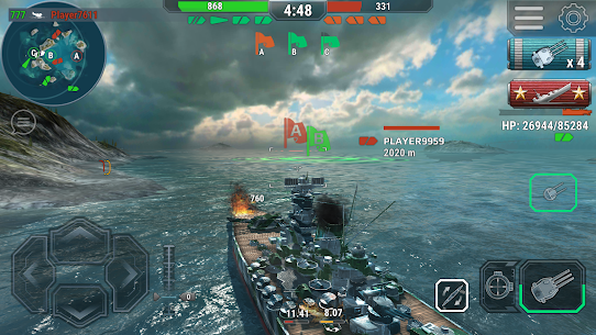 Warships Universe: Naval Battle Mod Apk 0.8.2 (Mod Banknotes/Diamonds) 6