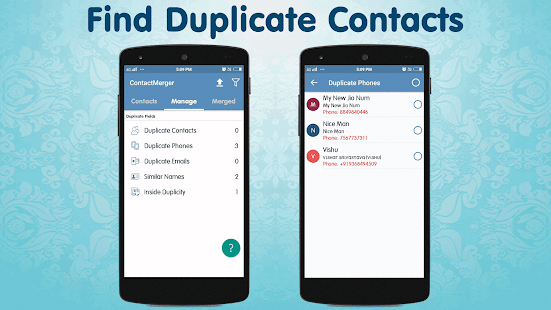 Duplicate Contact Merger Screenshot