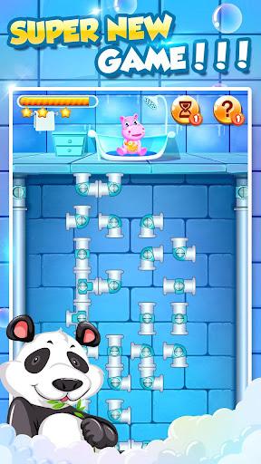 Bathe Hippo - Connect Pipes  screenshots 4