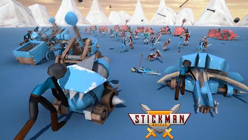 stickman battle simulator - stickman warriors screenshot 1