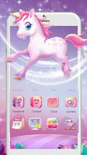 Pink Unicorn Launcher Theme Live HD Wallpapers 1.0 Android APK Mod 1