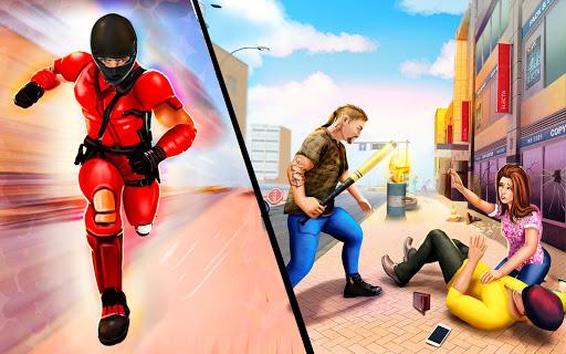 Flying Ninja Rope Hero: Light Speed Ninja Rescue apkpoly screenshots 7