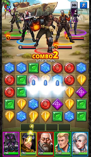 Puzzle Combat: Match-3 RPG android2mod screenshots 24