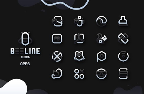 BeeLine Black IconPack Apk Download [PAID] 6