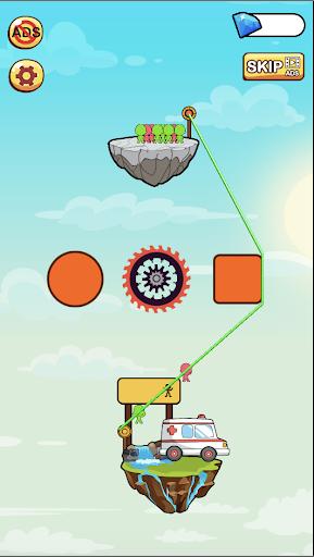 hero rescue: rope puzzle screenshot 1