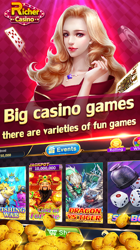 Rummy TeenPatti Slots Fishing - Richer Casino  screenshots 1