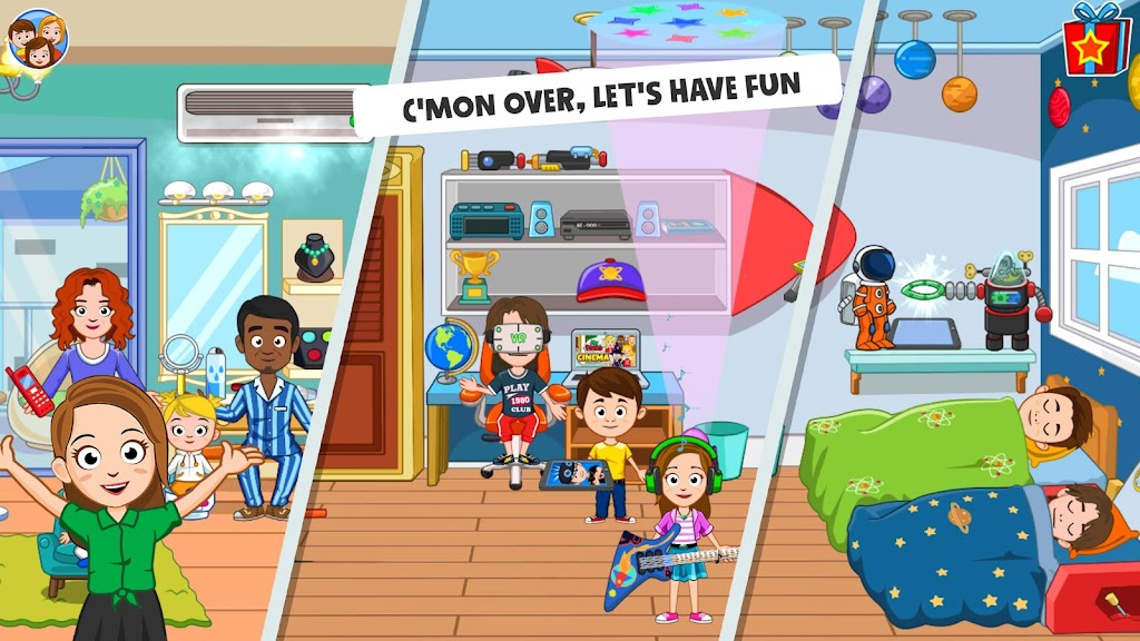 My Town : Best Friends' House games for kids poster 4