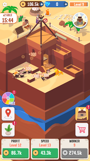 Idle Digging Tycoon apktreat screenshots 2
