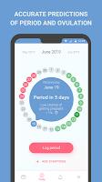 screenshot of Period tracker, calendar, ovulation, cycle