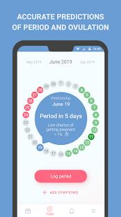 Period tracker, calendar, ovulation, cycle 65.0 Screenshots 1