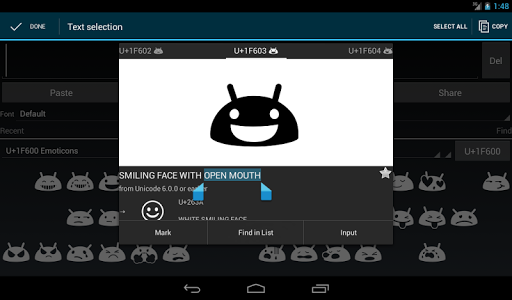 Unicode Pad android2mod screenshots 10