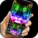 Neues Neon Tiger Tastatur thema