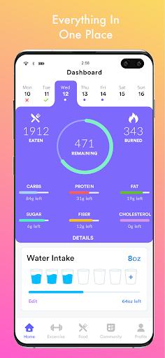 Qalorie: Calorie Counter & Weight Loss android2mod screenshots 1