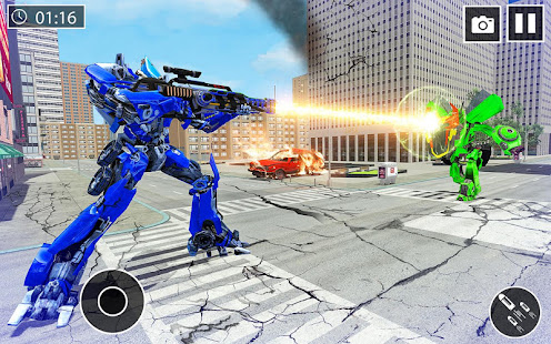 US Police Car Transform Robot War Rescue 2021 1.0.7 Screenshots 7