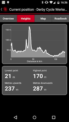 impulse e-bike navigation screenshot 2