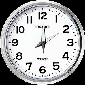 Clock save battery, time, alarm