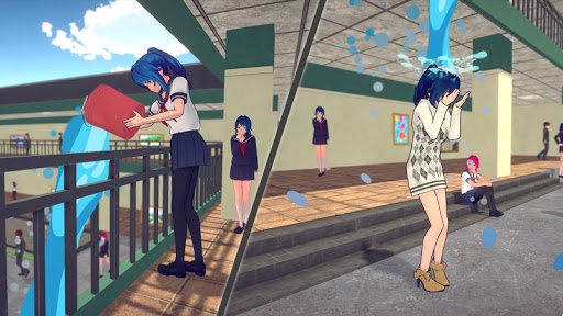 Anime High School Girls- Yandere Life Simulator 3D apkpoly screenshots 14