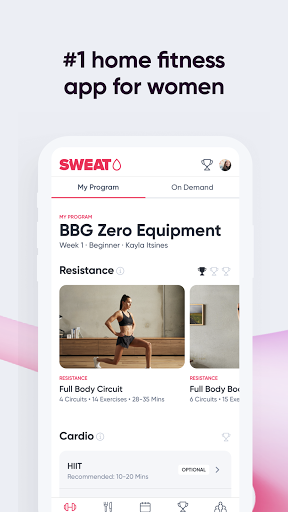 SWEAT: Fitness App For Women  screenshots 2