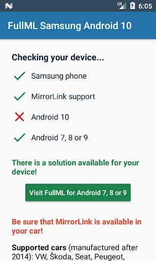 Full MirrorLink Samsung Android 10  Screenshots 2