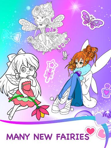 Magic Fairy Coloring Book for Girls Apkfinish screenshots 6