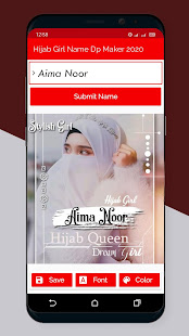 Hijab Girl Name Dp Maker 2021