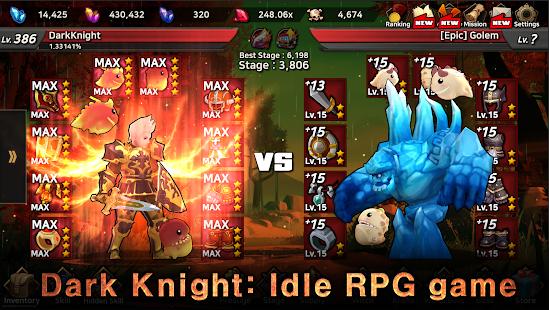 Dark Knight : Idle RPG game 0.1105 screenshots 1