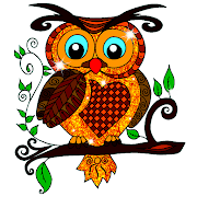Owl Color by Number - Birds Coloring Book Pages