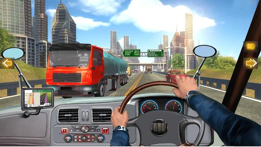 In Truck Highway Rush Racing Free Offline Games apkpoly screenshots 1