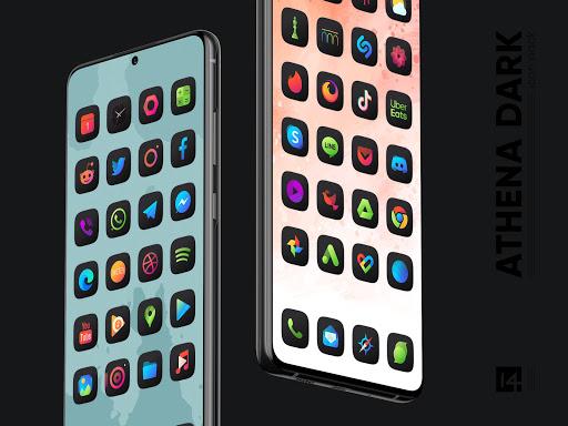 athena dark icon pack - dark squircle icons screenshot 1