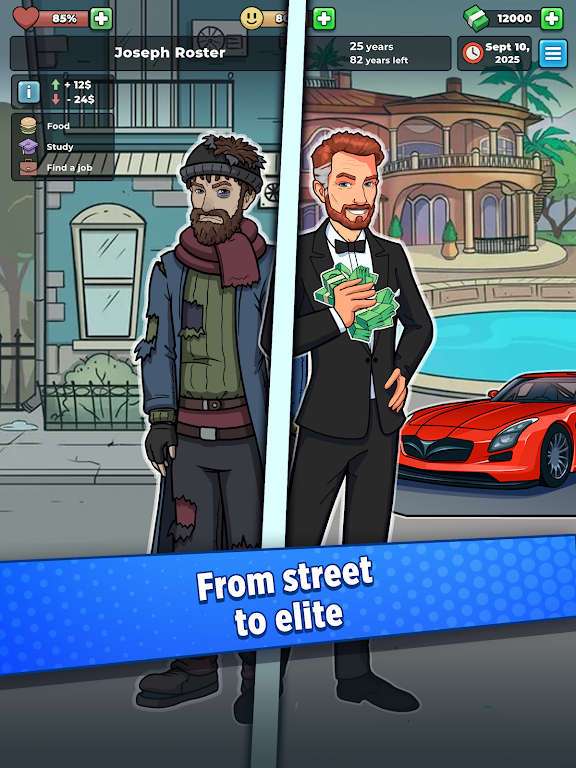 Hobo Life: Business Simulator & Money Clicker Game poster 5