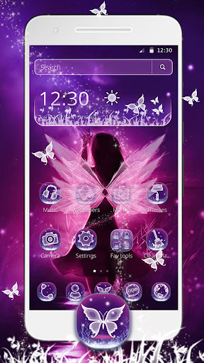 purple fairy tale princess theme screenshot 2