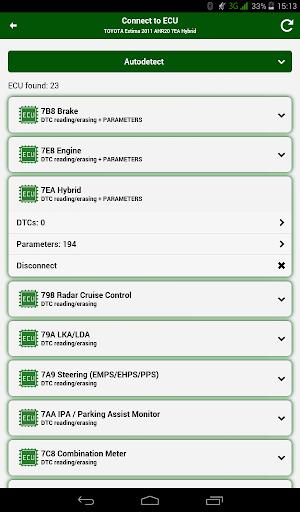 Doctor Hybrid ELM OBD2 scanner. MotorData OBD 1.0.8.33 Screenshots 12