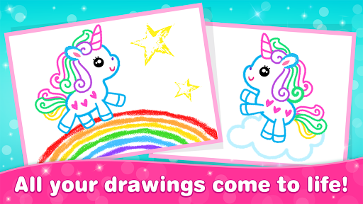 Kids Drawing Games for Girls! Apps for Toddlers!  screenshots 12