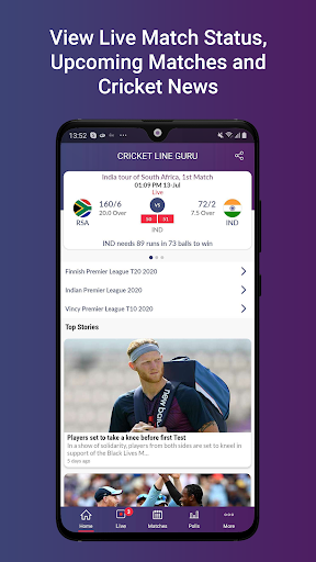 Cricket Line Guru : Cricket Live Line android2mod screenshots 3
