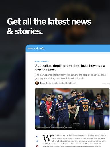 ESPNCricinfo - Live Cricket Scores, News & Videos 7.0 Screenshots 9