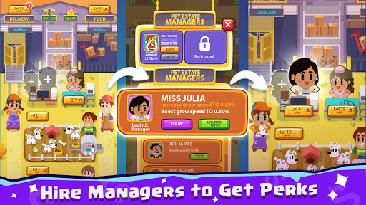 Pet Idle Miner: Farm Tycoon u2013 Take Care of Animals apkpoly screenshots 3